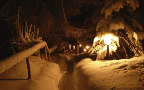 Zima v noci